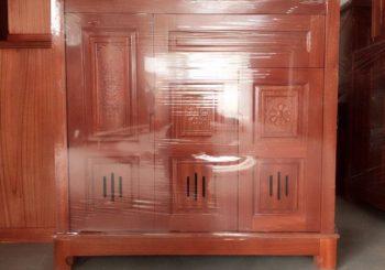 tủ giày gỗ sồi
