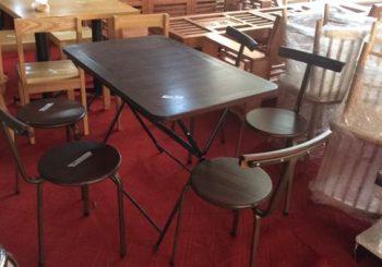 ghế cafe tựa lưng gỗ