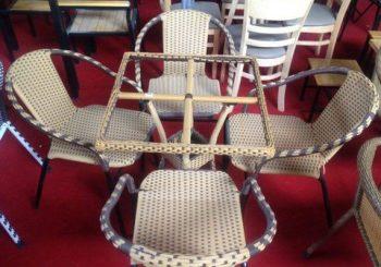 bàn ghế cafe mây hải phòng