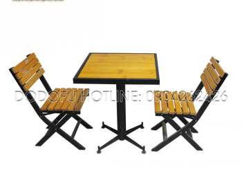 bàn cafe 1 chân 2 ghế