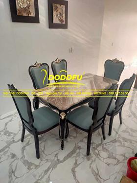 Bộ bàn ghế ăn tân cổ hoàng gia cao cấp