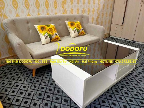bộ bàn ghế sofa nỉ