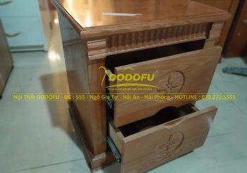 tủ đầu giường gỗ sồi sang trọng