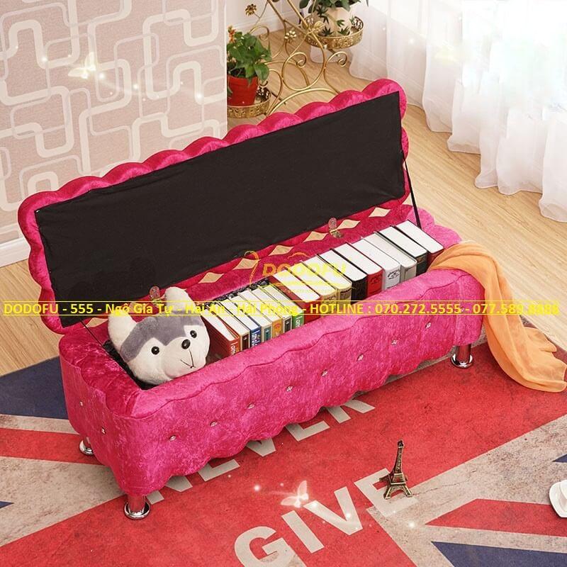 sofa hộp vải nhung