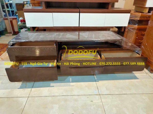 kệ tivi gỗ sồi màu óc chó