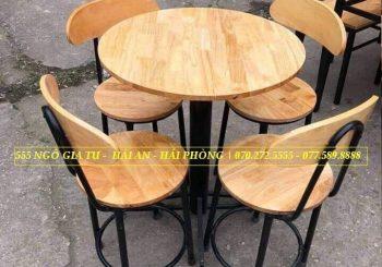bộ bàn ghế cafe mặt tròn