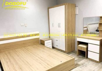 Combo giường 1,8m, tủ 3 cánh kèm bàn phấn táp - CBPN