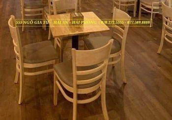 bộ bàn ghế cafe cabin gỗ