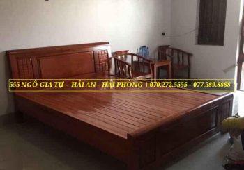 Giường gỗ Sồi 1m8 - 2m phản - GGS