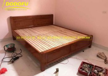 Giường xoan đào thang dát 1m6 - 2m - GXD