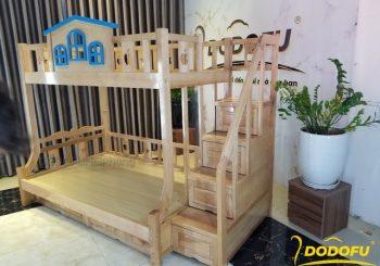 Giường tầng gỗ sồi cho bé