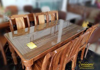 Bàn ghế ăn gỗ Hương xám