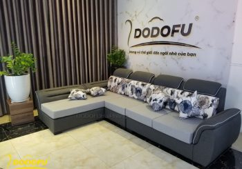 Sofa tay nhún màu xám