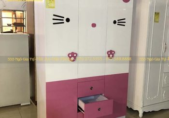 Tủ quần áo nhựa màu hồng