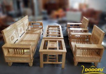 bộ bàn ghế gỗ sồi