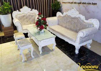 bộ sofa màu trắng