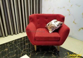 ghế sofa đơn màu đỏ