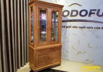 Tủ rượu gỗ sồi màu cánh gián