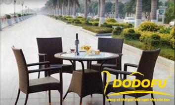 mẫu bàn ghế ăn ngoài trời
