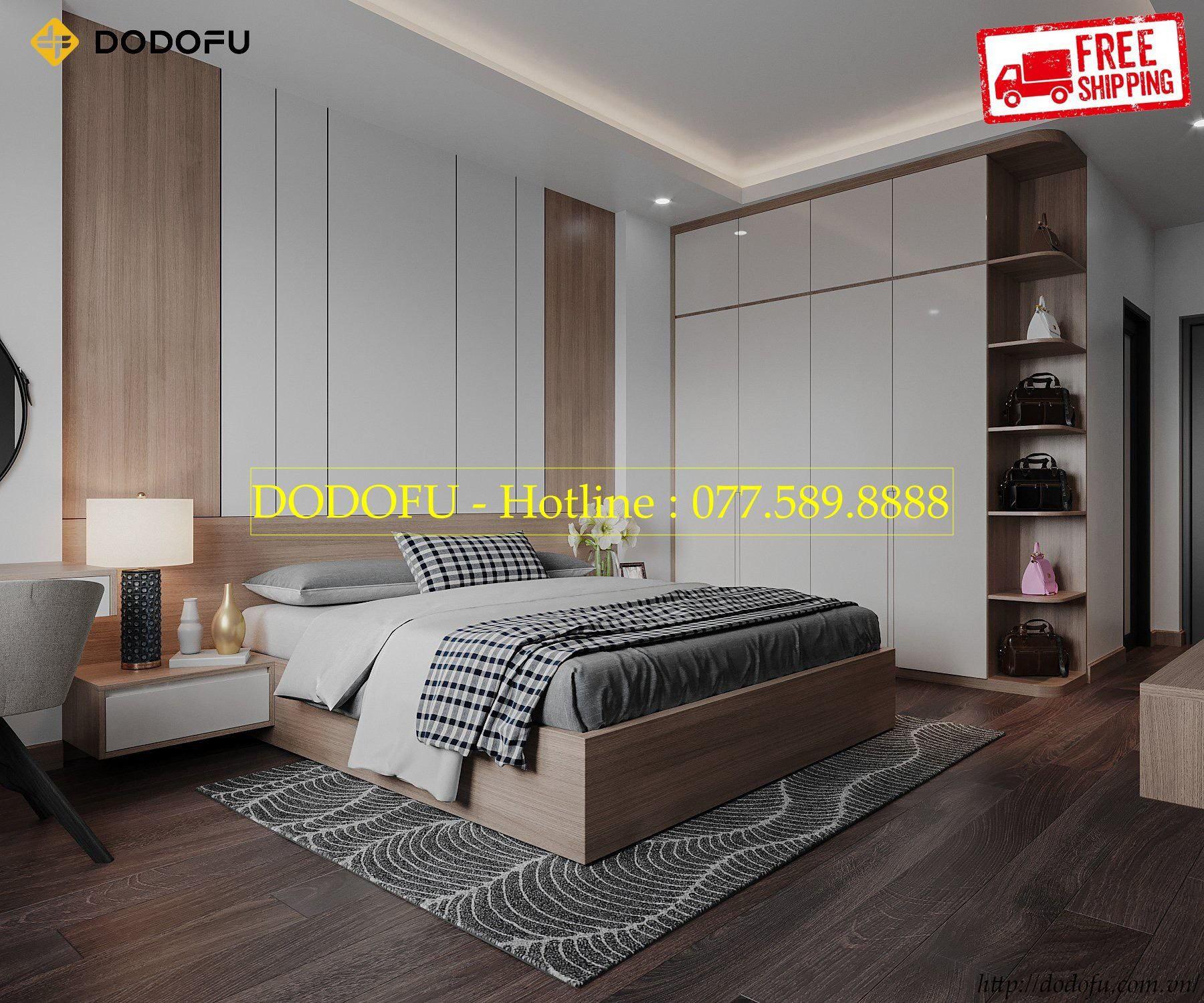 thiết kế nội thất phòng ngủ nhà phố anh Hoàng Hải Phòng