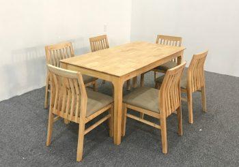 bộ bàn ăn chân vuông 6 ghế đệm