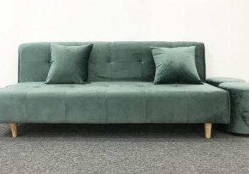 bộ sofa nỉ không tay màu rêu