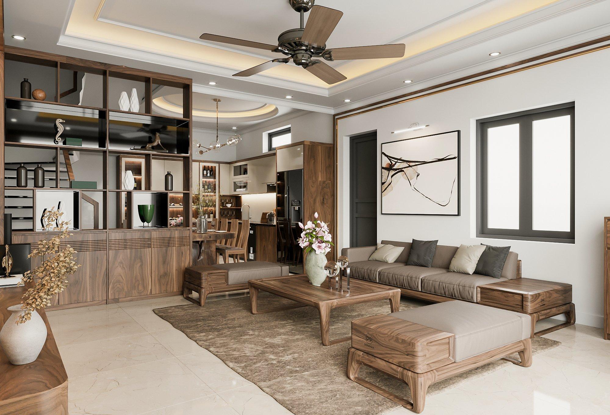 thiết kế nội thất phòng khách hải an Hải Phòng
